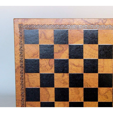 "13"" Pressed Leather Map Board, Ital Fama, Italy, 201MAP, by WorldWise Imports-Chess Board-Floor Mirror Gallery"