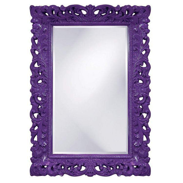 Howard Elliott Barcelona Royal Purple Mirror 46H x 32W x 4D - 2020RP-Wall Mirror-Floor Mirror Gallery