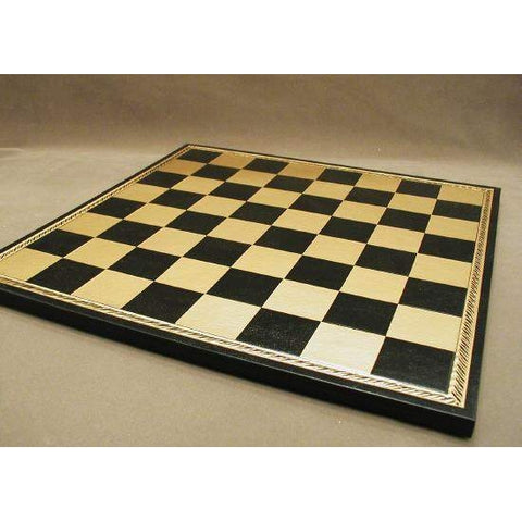 "15"" Pressed Leather Board, Ital Fama, Italy, 202GN, by WorldWise Imports-Chess Board-Floor Mirror Gallery"