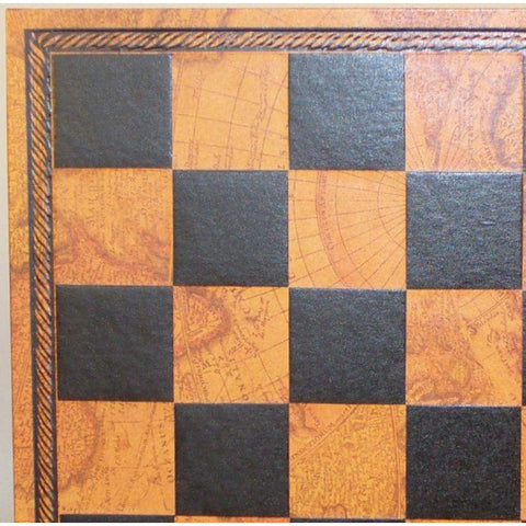 "15"" Pressed Leather Map Board, Ital Fama, Italy, 202MAP, by WorldWise Imports-Chess Board-Floor Mirror Gallery"