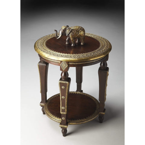 Butler Ranthore Round Brass Accent Table 2039290-Accent Table-Floor Mirror Gallery
