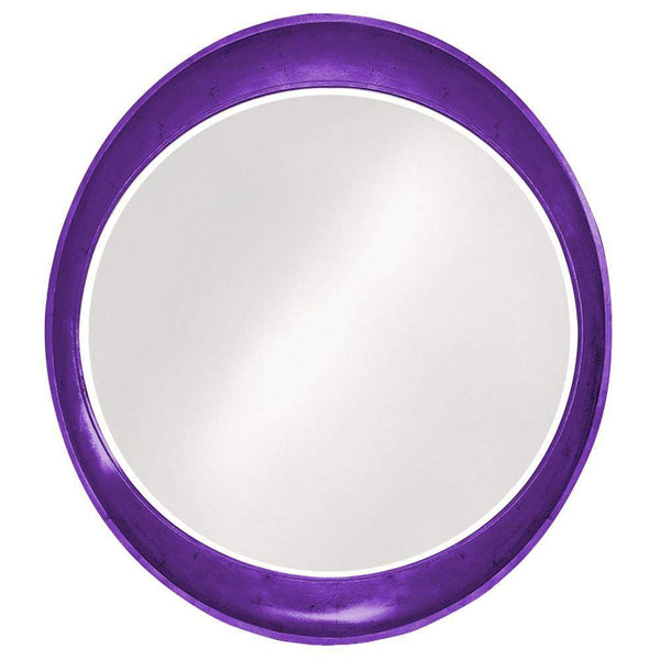 Howard Elliott Ellipse Glossy Royal Purple Mirror 39H x 35W x 3D - 2070RP-Wall Mirror-Floor Mirror Gallery