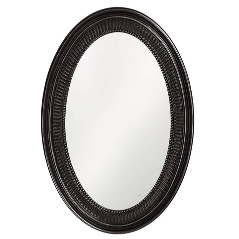 Howard Elliott Ethan Black Mirror 31H x 21W x 2D - 2110BL-Wall Mirror-Floor Mirror Gallery