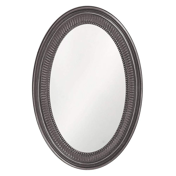 Howard Elliott Ethan Glossy Charcoal Gray Mirror 31H x 21W x 2D - 2110CH-Wall Mirror-Floor Mirror Gallery
