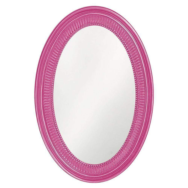 Howard Elliott Ethan Hot Pink Mirror 31H x 21W x 2D - 2110HP-Wall Mirror-Floor Mirror Gallery