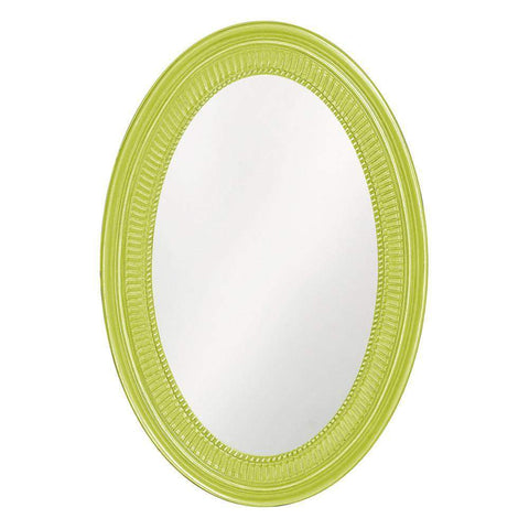 Howard Elliott Ethan Glossy Moss Green Mirror 31H x 21W x 2D - 2110MG-Wall Mirror-Floor Mirror Gallery