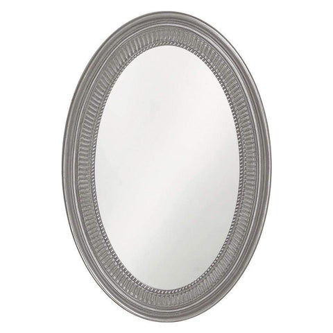 Howard Elliott Ethan Glossy Nickel Mirror 31H x 21W x 2D - 2110N-Wall Mirror-Floor Mirror Gallery