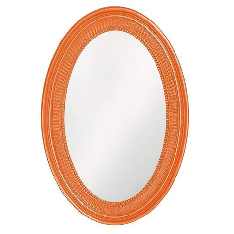 Howard Elliott Ethan Glossy Orange Mirror 31H x 21W x 2D - 2110O-Wall Mirror-Floor Mirror Gallery