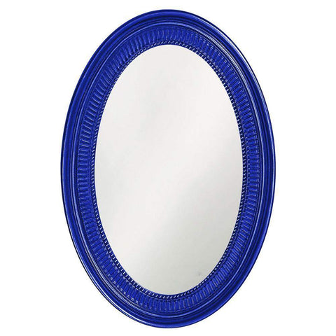 Howard Elliott Ethan Glossy Royal Blue Mirror 31H x 21W x 2D - 2110RB-Wall Mirror-Floor Mirror Gallery