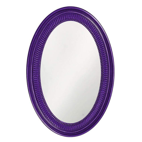 Howard Elliott Ethan Royal Purple Mirror 31H x 21W x 2D - 2110RP-Wall Mirror-Floor Mirror Gallery
