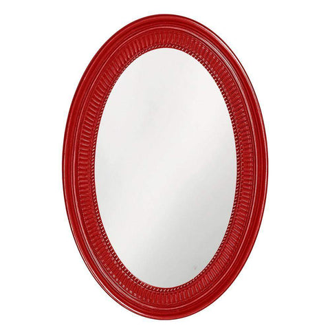 Howard Elliott Ethan Glossy Red Mirror 31H x 21W x 2D - 2110R-Wall Mirror-Floor Mirror Gallery