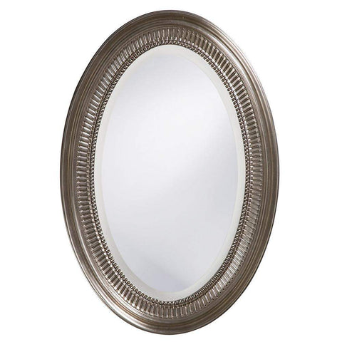 Howard Elliott Ethan Nickel Mirror 31H x 21W x 2D - 21116-Wall Mirror-Floor Mirror Gallery