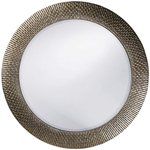 Howard Elliott Bergman Silver Round Mirror 54H x 54W x 1D - 21117-Wall Mirror-Floor Mirror Gallery