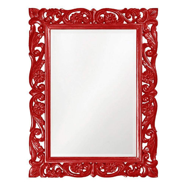 Howard Elliott Chateau Red Mirror 42H x 31W x 1D - 2113R-Wall Mirror-Floor Mirror Gallery