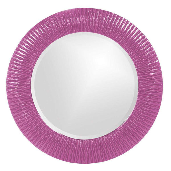 Howard Elliott Bergman Hot Pink Small Round Mirror 32H x 32W x 1D - 21143HP-Wall Mirror-Floor Mirror Gallery