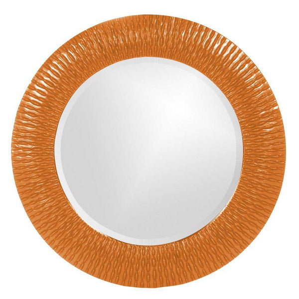Howard Elliott Bergman Orange Small Round Mirror 32H x 32W x 1D - 21143O-Wall Mirror-Floor Mirror Gallery