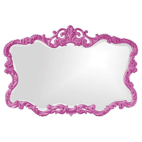 Howard Elliott Talida Hot Pink Mirror 38H x 27W x 1D - 21183HP-Wall Mirror-Floor Mirror Gallery