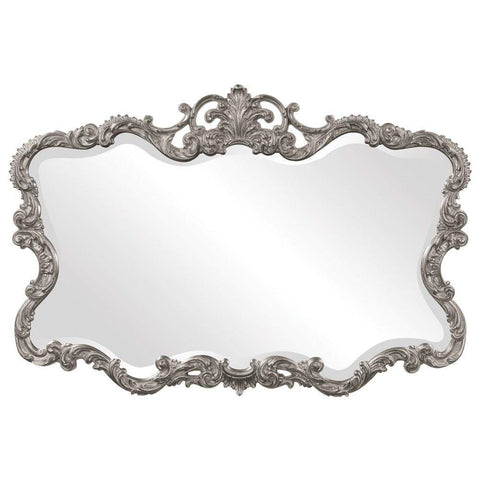 Howard Elliott Talida Nickel Mirror 38H x 27W x 1D - 21183N-Wall Mirror-Floor Mirror Gallery