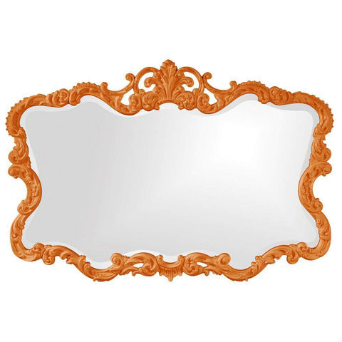 Howard Elliott Talida Orange Mirror 38H x 27W x 1D - 21183O-Wall Mirror-Floor Mirror Gallery
