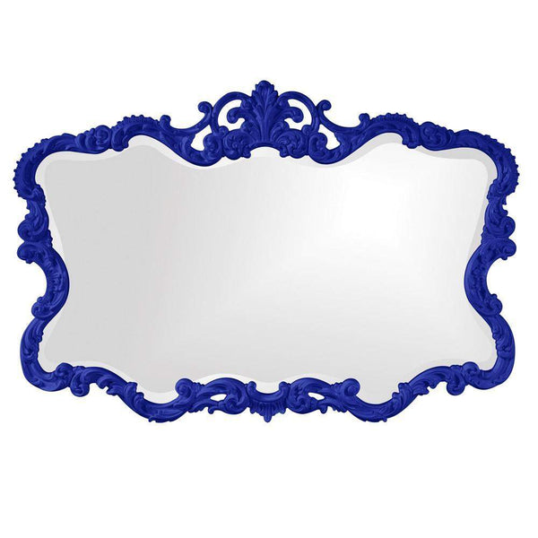 Howard Elliott Talida Royal Blue Mirror 38H x 27W x 1D - 21183RB-Wall Mirror-Floor Mirror Gallery
