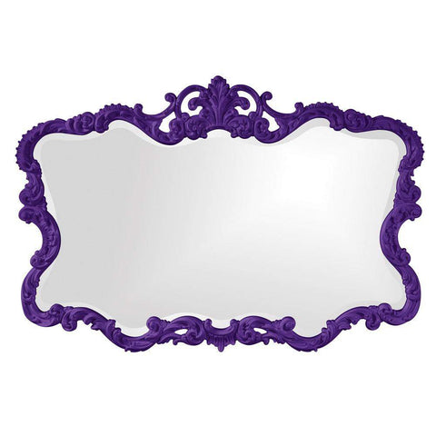 Howard Elliott Talida Royal Purple Mirror 38H x 27W x 1D - 21183RP-Wall Mirror-Floor Mirror Gallery