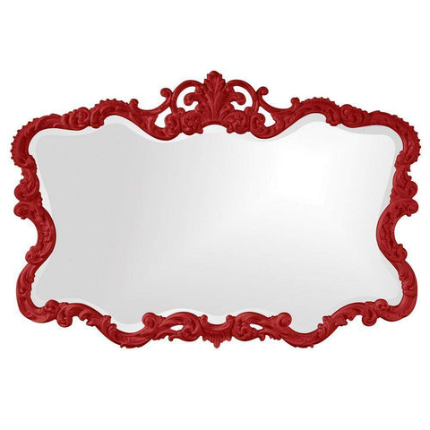 Howard Elliott Talida Red Mirror 38H x 27W x 1D - 21183R-Wall Mirror-Floor Mirror Gallery