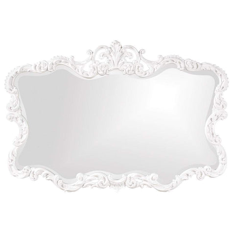 Howard Elliott Talida White Mirror 38H x 27W x 1D - 21183-Wall Mirror-Floor Mirror Gallery