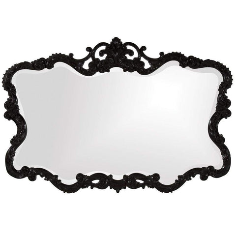 Howard Elliott Talida Black Mirror 38H x 27W x 1D - 21184-Wall Mirror-Floor Mirror Gallery