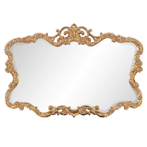 Howard Elliott Talida Gold Mirror 38H x 27W x 1D - 21188-Wall Mirror-Floor Mirror Gallery