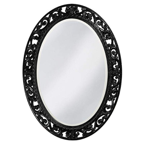 Howard Elliott Suzanne Black Mirror 38H x 27W x 1D - 2123BL-Wall Mirror-Floor Mirror Gallery