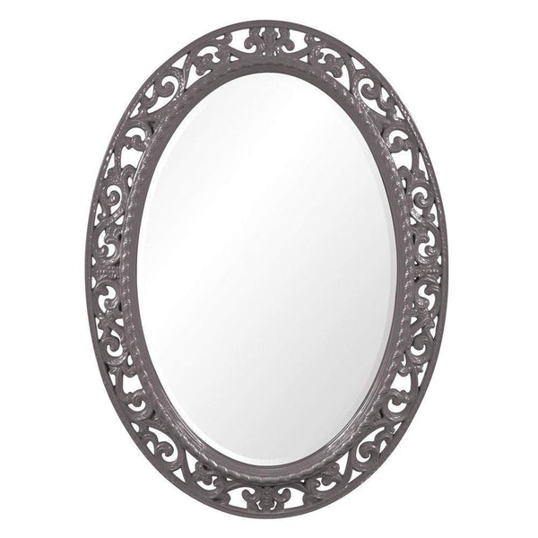 Howard Elliott Suzanne Glossy Charcoal Gray Mirror 38H x 27W x 1D - 2123CH-Wall Mirror-Floor Mirror Gallery