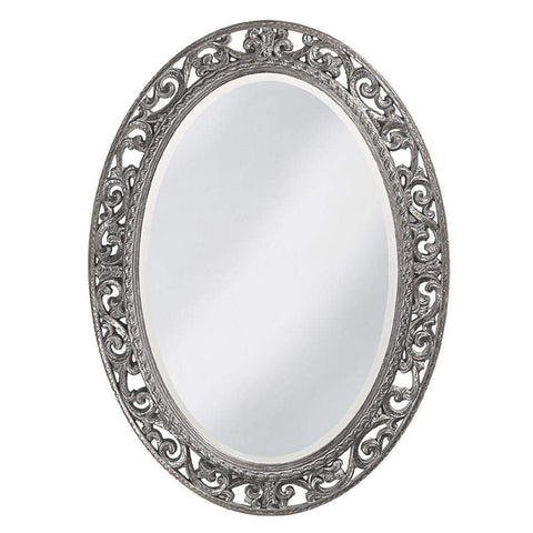 Howard Elliott Suzanne Glossy Nickel Mirror 38H x 27W x 1D - 2123N-Wall Mirror-Floor Mirror Gallery