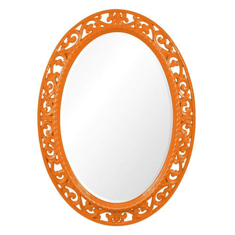 Howard Elliott Suzanne Glossy Orange Mirror 37H x 27W x 1D - 2123O-Wall Mirror-Floor Mirror Gallery