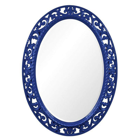 Howard Elliott Suzanne Royal Blue Mirror 37H x 27W x 1D - 2123RB-Wall Mirror-Floor Mirror Gallery