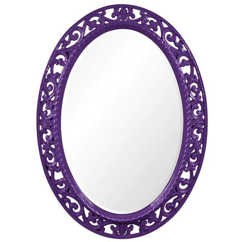 Howard Elliott Suzanne Royal Purple Mirror 37H x 27W x 1D - 2123RP-Wall Mirror-Floor Mirror Gallery