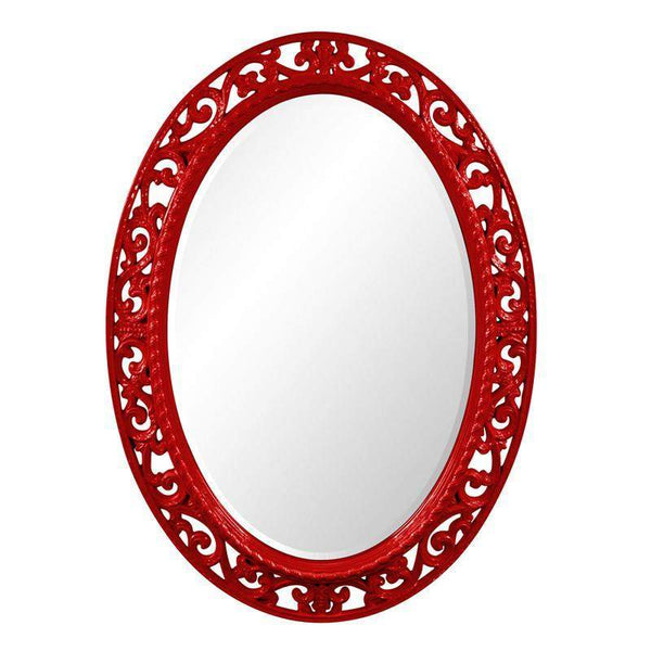 Howard Elliott Suzanne Red Mirror 37H x 27W x 1D - 2123R-Wall Mirror-Floor Mirror Gallery
