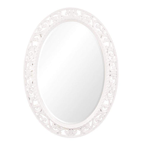 Howard Elliott Suzanne White Mirror 37H x 27W x 1D - 2123W-Wall Mirror-Floor Mirror Gallery
