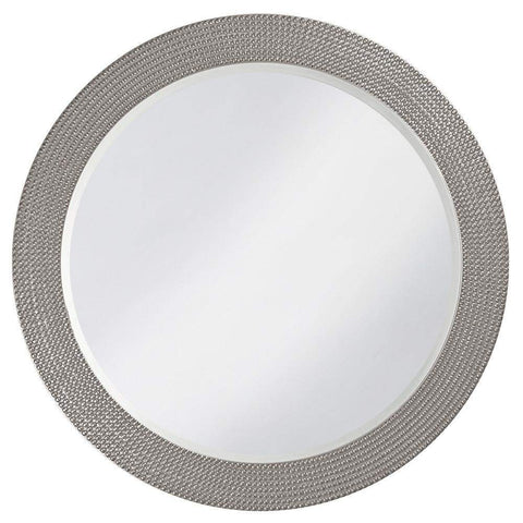 Howard Elliott Lancelot Glossy Nickel Round Mirror 32H x 21W x 1D - 2133N-Wall Mirror-Floor Mirror Gallery