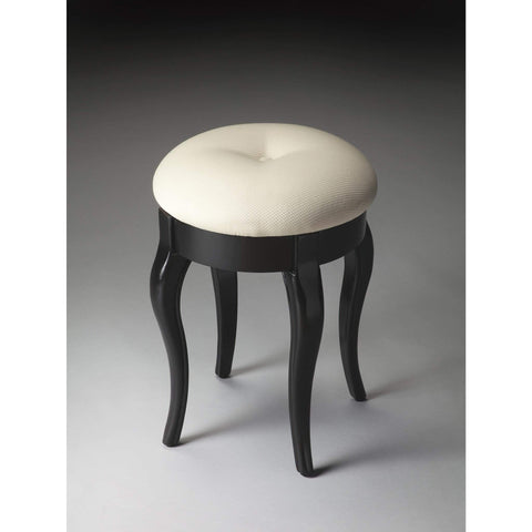 Butler Simone Black Licorice Vanity Stool 2135111-Vanity Stool-Floor Mirror Gallery