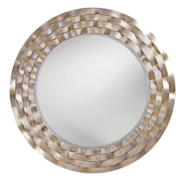 Howard Elliott Cartier Silver Leaf Mirror 46H x 46W x 1D - 2140-Wall Mirror-Floor Mirror Gallery