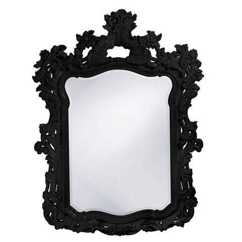 Howard Elliott Turner Black Mirror 56H x 42W x 2D - 2147BL-Wall Mirror-Floor Mirror Gallery
