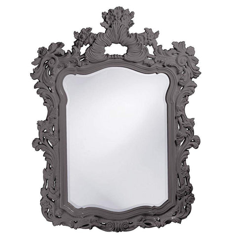 Howard Elliott Turner Charcoal Gray Mirror 56H x 42W x 2D - 2147CH-Wall Mirror-Floor Mirror Gallery