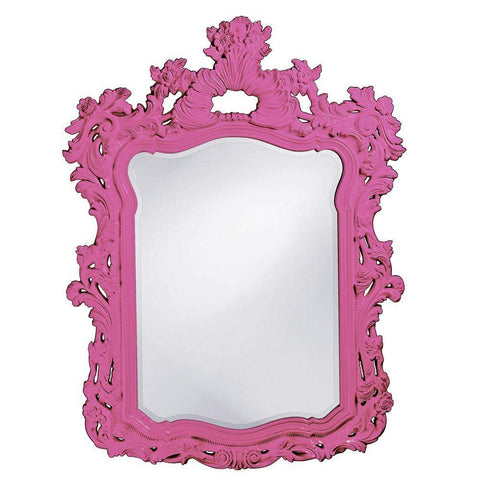 Howard Elliott Turner Hot Pink Mirror 56H x 42W x 2D - 2147HP-Wall Mirror-Floor Mirror Gallery