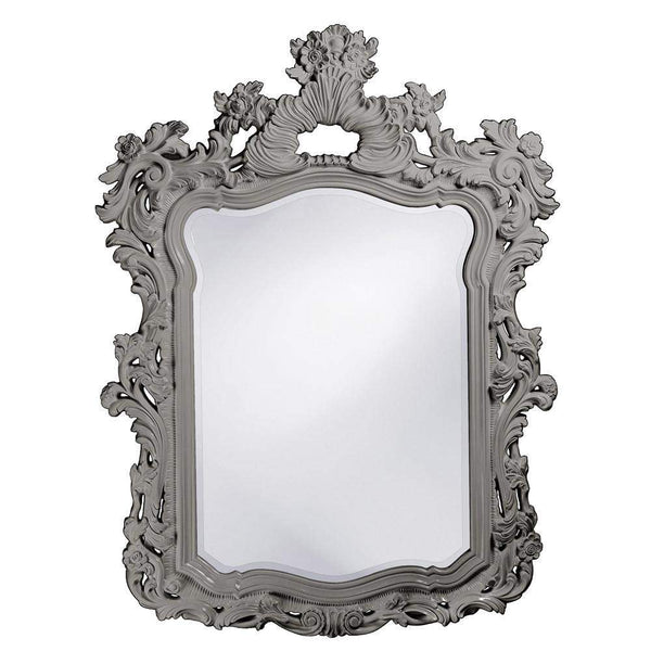 Howard Elliott Turner Glossy Nickel Mirror 56H x 42W x 2D - 2147N-Wall Mirror-Floor Mirror Gallery
