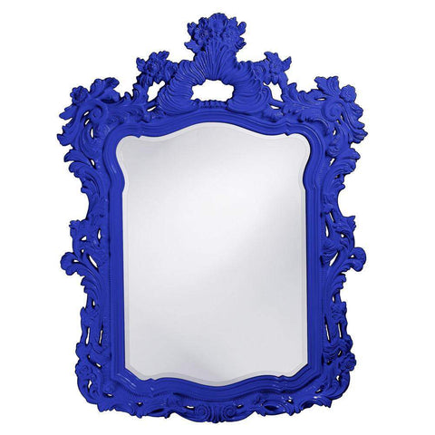 Howard Elliott Turner Royal Blue Mirror 56H x 42W x 2D - 2147RB-Wall Mirror-Floor Mirror Gallery