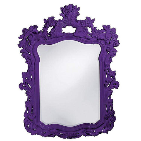 Howard Elliott Turner Royal Purple Mirror 56H x 42W x 2D - 2147RP-Wall Mirror-Floor Mirror Gallery