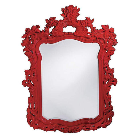 Howard Elliott Turner Red Mirror 56H x 42W x 2D - 2147R-Wall Mirror-Floor Mirror Gallery