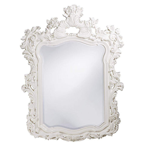 Howard Elliott Turner White Mirror 56H x 42W x 2D - 2147W-Wall Mirror-Floor Mirror Gallery