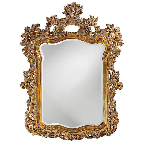 Howard Elliott Turner Antique Gold Mirror 56H x 42W x 2D - 2147-Wall Mirror-Floor Mirror Gallery
