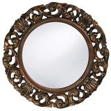 Howard Elliott Glendale Antique Gold Mirror 26H x 26W x 2D - 2170-Wall Mirror-Floor Mirror Gallery